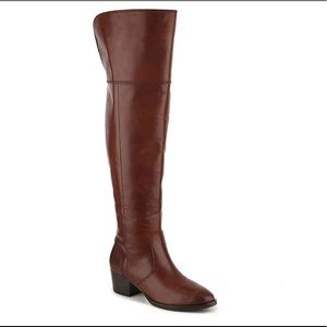 Frye Clara over the knee tall riding boots redwood